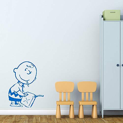 ASFGA Cartoon Charakter Wandtattoo Liebe Lernen Junge Schlafzimmer Schlafzimmer Kindergarten Innentüren und Fenster Aufkleber Baby Zimmer Papier kreative Wandbild Geschenk 42x32 cm
