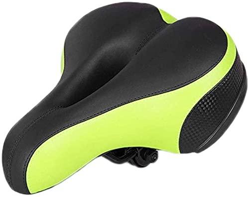 JZTOL Asiento De Bicicleta Sillín De Bicicletas, Sillín De Bicicleta Suave para Bicicletas Cojín De Asiento De Bicicleta para MTB Road Gel Comodidad Ciclistas Híbridos - Verde