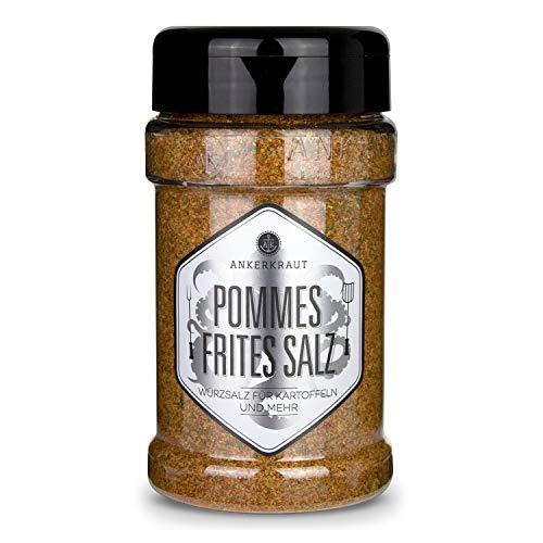 Ankerkraut Pommes Frites Salz, Pommes Gewürz, für Pommes und viele weitere Kartoffelgerichte, 270g im Streuer