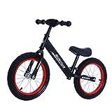 GASLIKE Bicicleta de Equilibrio para niños, sin Pedales, Ruedas de 12/14 Pulgadas, Asiento Ajustable, Primera Bicicleta para niños de 2-8 años de Edad, Estable y Segura,G 14inch Black