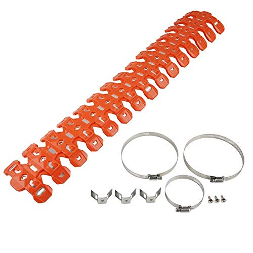 Motorradabdeckung NICECNC Motorrad 2-Takt Auspuff-Schutz orange Fit for SX/XC/XCW/XCW...