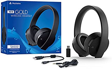 $82 Get Sony PlayStation Gold Wireless Headset 7.1 Surround Sound PS4 New Version 2018