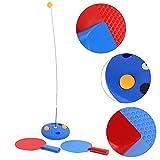 idalinya Robot de Tenis Entrenador de Tenis portátil, Herramienta de Entrenamiento de Rebote, Tenis de Mesa, Ping Pong de autoentrenamiento para niños Adultos en Interiores y Exteriores(777-532)