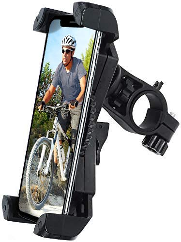 Amoner Bicycle Phone Mount, Anti Shake and Stable Cradle Clamp with 360° Rotation Bicycle Phone Mount/Bike Accessories/Bike Phone Holder for iPhone Android GPS Other Devices up to 6.5 inches