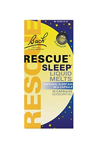 Bach RESCUE Sleep Liquid Melts, Natural Orange Vanilla Flavor, Natural Sleep Aid, Homeopathic Flower Remedy, Quick-Dissolve, Gluten and Sugar-Free, Non-Alcohol, Non-Narcotic, 28 Count