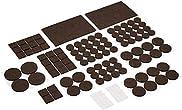 Amazon Basics Felt Furniture Pads, Brown and Transparent, 136 pcs