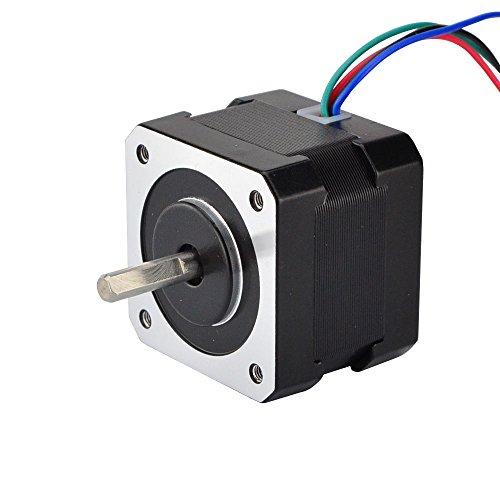 STEPPERONLINE Nema17 Schrittmotor 26Ncm 1.8deg w/ 1m Kabel & Verbinder 12V 0.4A für Hobby CNC 3D Drucker und Roboter