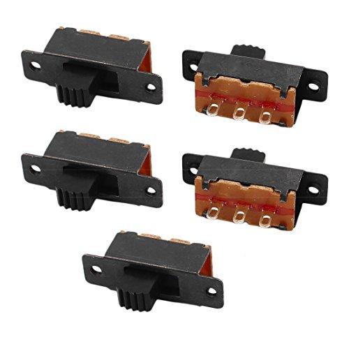 DealMux 5 Pcs 2 Posição 3P SPDT Switch Micro Miniatura PCB Deslize travamento Interruptor de Báscula