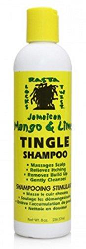 Rasta Jam Mango & Lime Tingle Shampoo 235 ml (Paquete de 3)