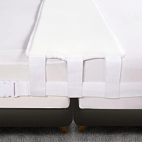 VIVILINEN Kit convertidor de Puente de Cama Doble a tamaño King, cómodo, Ancho de Cama, Relleno de Espacios, Conector de colchón, Correa de Espuma viscoelástica (200 x 30 x 8 cm)