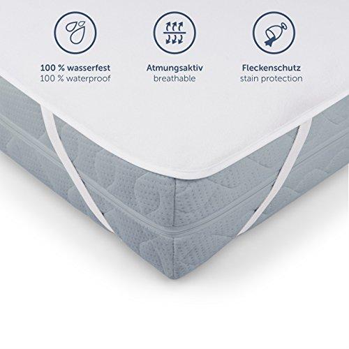 Blumtal Protector de Colchón Impermeable - 90 x 200cm Protección de colchón de algodón Transpirable con Esquinas elásticas