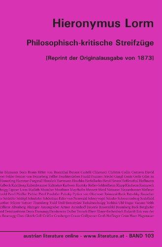 Philosophisch-kritische Streifzüge: [Reprint der Originalausgabe von 1873]