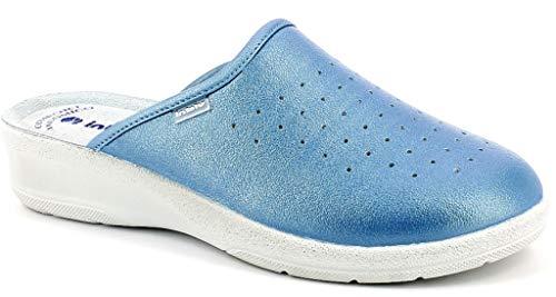 inblu Pantofole Ciabatte SANITARIE Donna MOD. 50-33N Azzurro (39 EU)