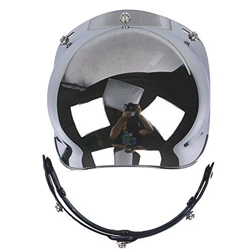 Motorcycle Helmet Bubble Shield with Flip Adapter (Silver)