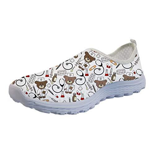 chaqlin Zapatillas de deporte para mujer, hombre, verano, para correr, de malla, transpirables, para caminar, trotar, mocasines, color, talla 36.5 EU