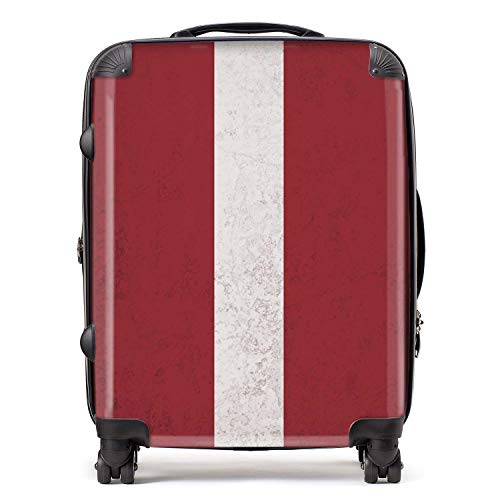 Latvia/Latvian Flag Suitcase with TSA Lock 4 Spinner Wheels Large Expandable Luggage 78cm 95Ltr / North European Flags