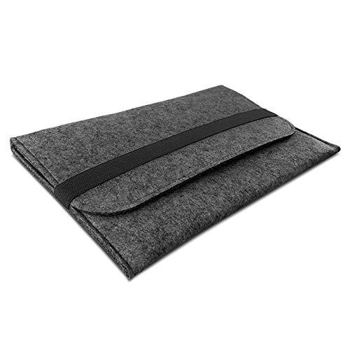 ROYALZ Filz Hülle für Apple iPad Pro 12.9 Zoll (2018) Schutzhülle Sleeve Design Cover Tasche Case, Farbe:Dunkelgrau