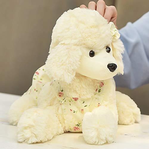 zcm Peluche Cuscino per Bambini in Peluche Ordinato 28cm Cuscino per Bambini Simpatico Cucciolo Bianco Bambola Regalo di San Valentino.