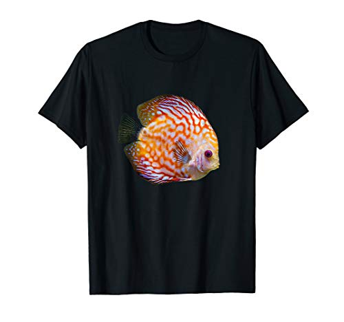 Diskus Diskusfisch Buntbarsch I Aquarianer Hobby T-Shirt
