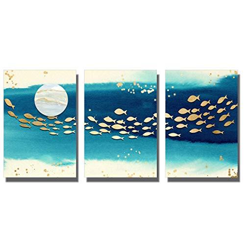 Paintngs - Stampa Astratta su Tela, Dipinti Decorativi, Dipinti per la casa, Dipinti di Studio, 3 Pezzi, 40 x 60 cm, C-C001-11