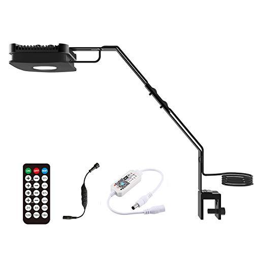 Lominie Luz LED Para Acuario, 4 Canales Wifi y RF, Control Remoto Regulable de 30W, Luz Para Pecera Pixie 30 Con Soporte Para Pecera de Agua Salada y Arrecife de Coral (P30 Agua Salada)