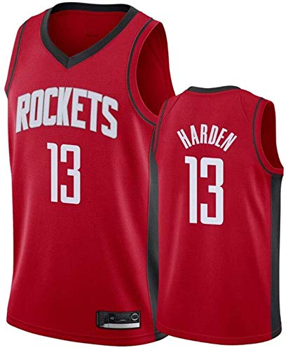 Zxwzzz NBA Jersey Houston Rockets No.13 Harden Maglie Traspirante Ricamati Pallacanestro Swingman Jersey (Color : Red D, Size : XX-Large)