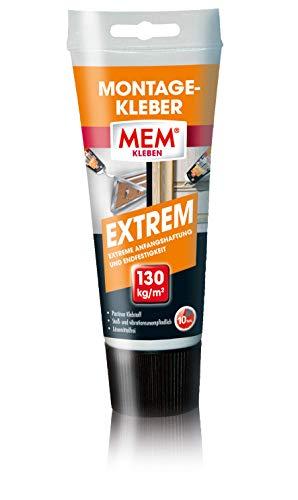 MEM Montage-Kleber - EXTREM - 70 g - Pastöser, lösemittelfreier Klebstoff - Stoß- und vibrationsunempfindlich - Verklebung von Porenbeton, Stein, Span - 30602328