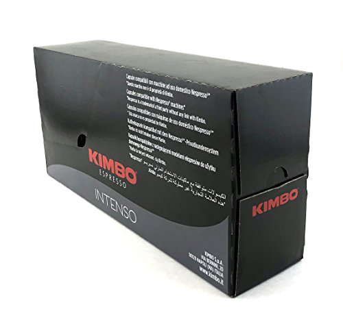 Kimbo Espresso Intenso Nespresso Capsules, 100% Arabica Coffee (Pack of 100 Capsules)