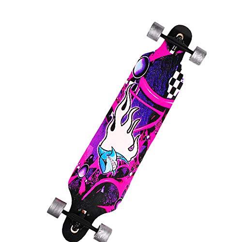 HUADUO Longboard Skateboard Maple Deportes al Aire Libre Principiante Varios diseños Skateboard...
