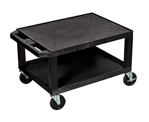 Luxor Mobile Multipurpose 16'H AV Utility Cart with 2 Shelf, Electric - Black