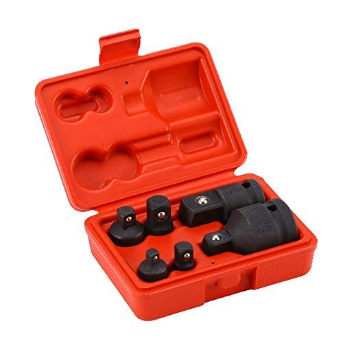Steeksleuteladapter vierkantaandrijving, kracht-dopsleuteladapter steeksleutelset vierkantaandrijving kracht-adapterset 6-dlg 1/4, 3/8, 1/2, 3/4
