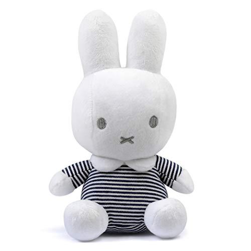Tiamo Miffy Hase ABC Plüschtier gestreift weiß grau 20 cm