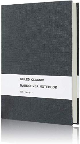 Hardcover Notizbuch DIN A5 Falttasche, 296 Seiten | 80 g/m² | Schwarz 8,4 x 5,7 Zoll | ideal als Tagebuch, Bullet Journal, Ideenbuch, Schreibheft