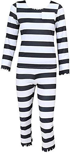 Hannahcos Jyugo Black White Striped Prisoner Uniform Cosplay Costume (Costom Made)