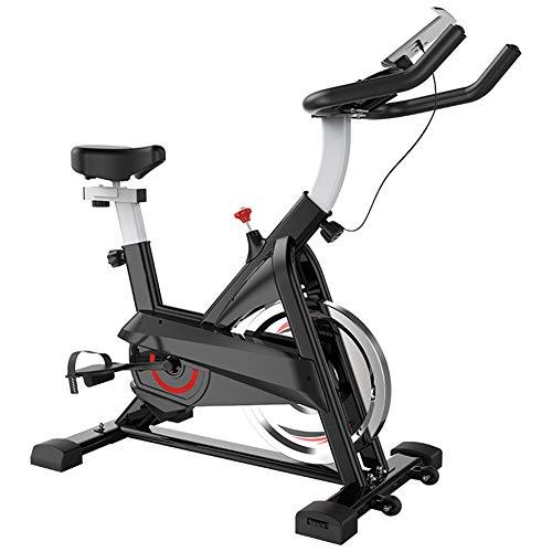 HLEZ Cyclette da Casa, Cardio Bike con Monitor LCD Carico Max 100 kg Sella Regolabile Attrezzo Sportivo Allenamento Corpo Cardio Trainer