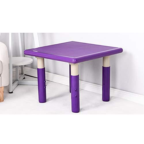LIANGJUN Table Et Chaises for Enfants Lis Art Activité Jouet Salle De Jeux Plastique Anti-livre Facile À Nettoyer, 5 Couleurs (Color : Purple, Size : 60x60x46cm)