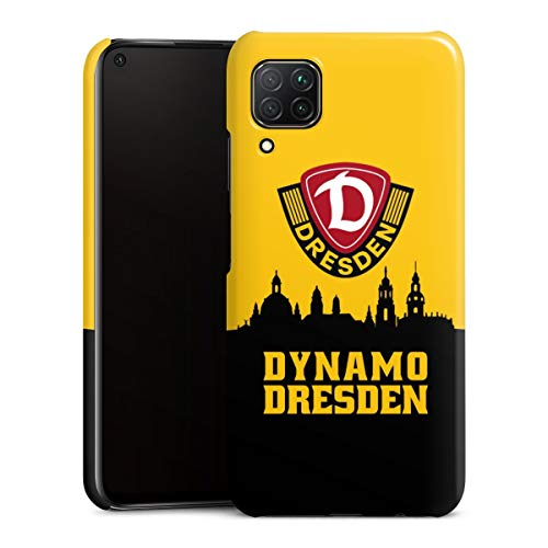 Premium Case kompatibel mit Huawei P40 Lite Smartphone Handyhülle Hülle glänzend SG Dynamo Dresden Skyline SGD