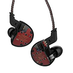 HIGH COST PERFORMANCE, PROFESSIONAL SOUND PERFORMANCE - KZ ZS10 has high-intensity resolution, bring you a very balanced, powerful and articulate sound stage; Bass, mid and high are all energetic and rich, showing professional sound quality 4BA+1DD I...