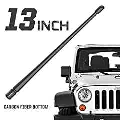 """Fits through: 2007-2020 Jeep Wrangler JK JL Gladiator Flexible Material: Allows shape memory so antenna springs back into shape when bent. Premium Rubber outer construction for weather resistance & durability Low Profile 13"""" Stylish Look: Improve the..."""