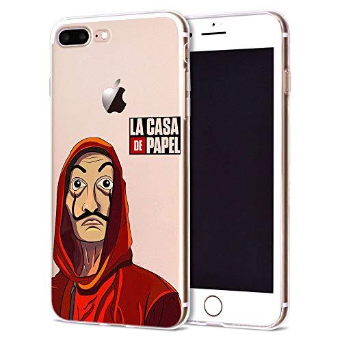 Giorno TV La CAS De Papel Funda iPhone Silicone Case Phone Cover S02 For Funda iPhone 7 (Funda iPhone 8)