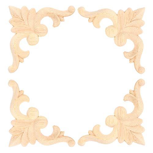 Pbzydu Geschnitzte Wandleuchte, DIY Eckwandleuchte, sorgfältig gestaltete 4-teilige Möbeldekoration Möbel für Wohnmöbeldekoration