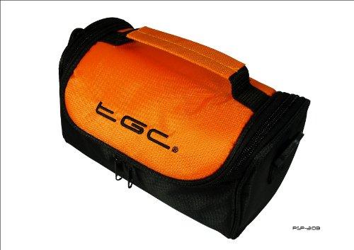 Como en calientes de color naranja de color negro y funda de piel sintética con funda para ordenador portátil de JVC Full HD Everio GZ-E205REK para cámara de vídeo
