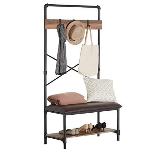 Strange Entryway Bench With Shelf With Hooks Amazon Com Machost Co Dining Chair Design Ideas Machostcouk