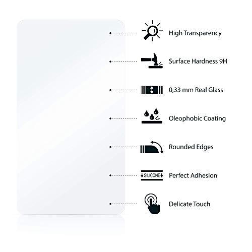 Savvies Panzerglas kompatibel mit Huawei Watch GT/GT Active (3 Stück) – Echt-Glas, 9H Härte, Anti-Fingerprint - 5