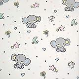 MAGAM-Stoffe Elefanten Bubu Baumwollstoff Kinderstoff