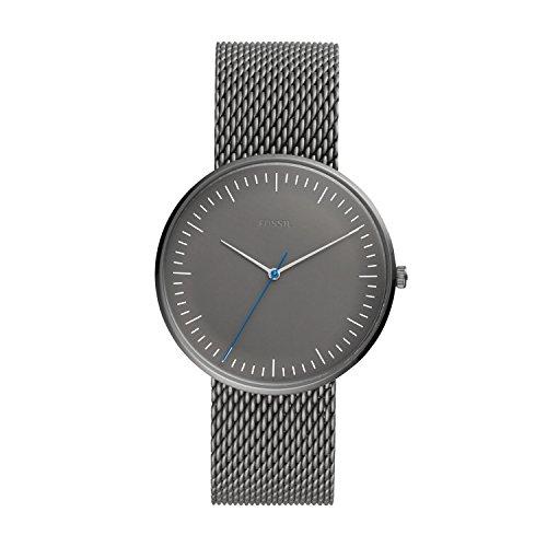 Fossil Herren Analog Quarz Uhr mit Edelstahl Armband FS5470