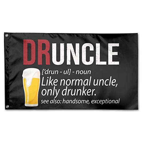 RuFS Definition of Druncle Like A Normal Uncle Only Drunker Gartenhaus einseitig Polyester Zeichen Outdoor Banner Außenwand Innenhof Banner Dekor