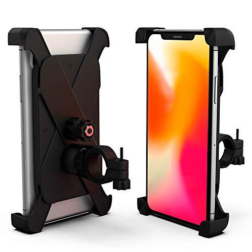 Amarion Handyhalterung fürs Fahrrad und Motorrad - Stabile 360° Telefonhalterung für Handy und Smartphone - Sicherer 3,5-6,5 Zoll Handyhalter für Lenker - Fahrradhalterung