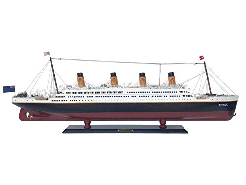 Handcrafted Nautical Decor RMS Titanic 40' - Titanic Model Cruise Liner - Wooden Cruise Ship - Museum Qual