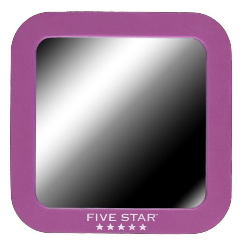"Five Star Locker Accessories, Locker Mirror, Magnetic, 5-1/2"" x 5-1/2"", Berry Pink/Purple (72562)"